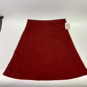 14th & Union burgundy textured skirt XL